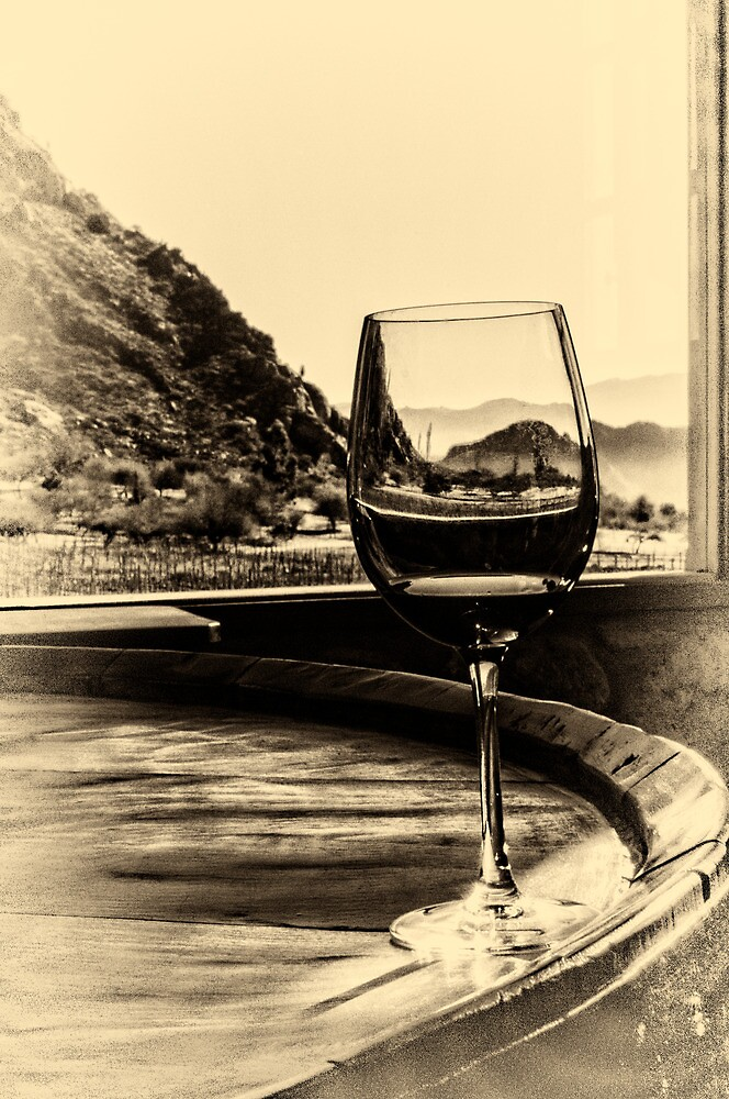 Through the Wine Glass - No. 2 - Antique Style by photograham