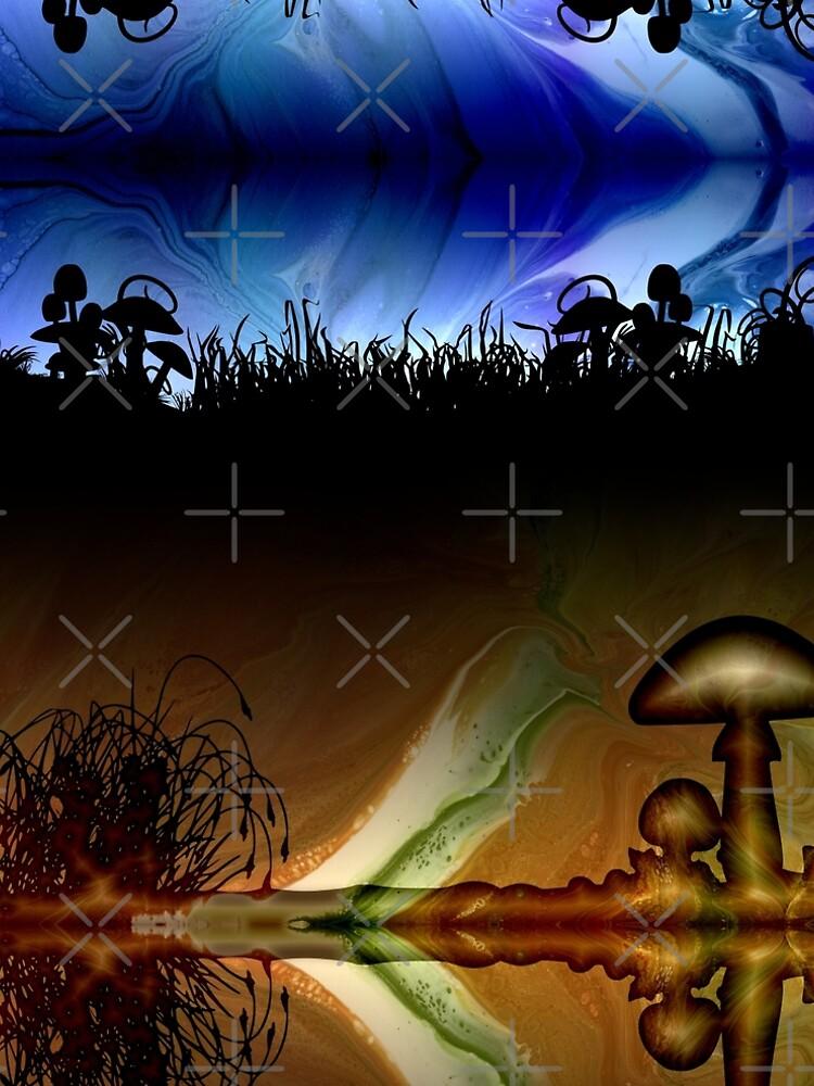 Mushroom Field At Dawn by kerravonsen