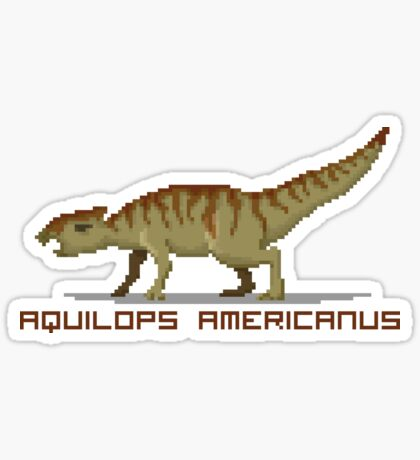 Pixel Aquilops Sticker