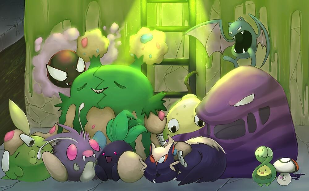 Poison Pokemon by James Crabb