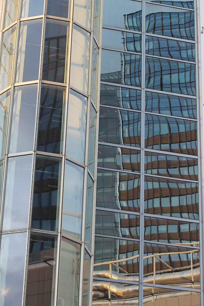 Reflection in skyscraper window by UpNorthPhoto
