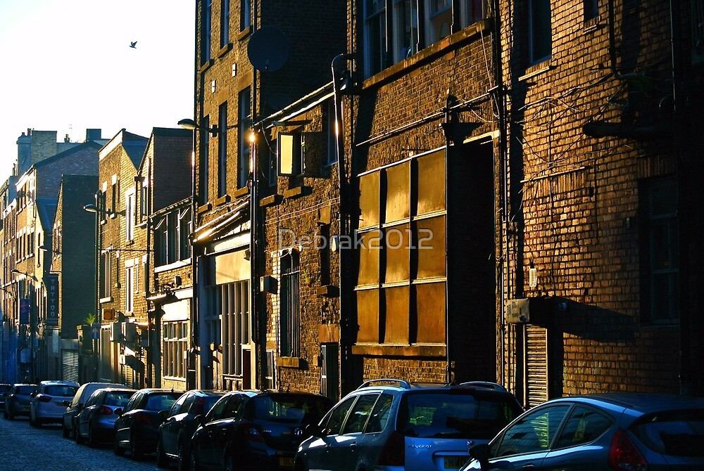 Street at sunset by Debrak2012