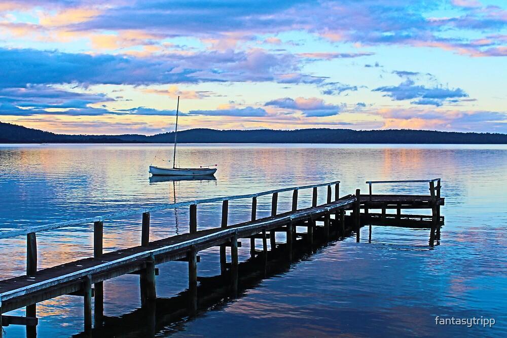 Boat at Georges Bay, St Helens, Tasmania by fantasytripp