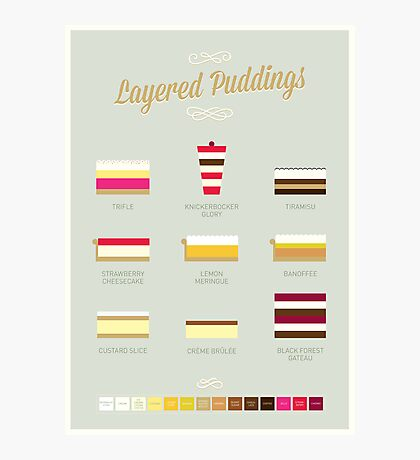 Layered Puddings Photographic Print