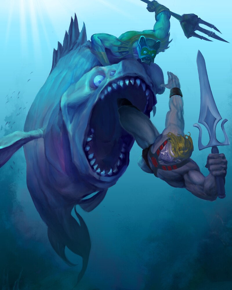 Mer-Man v He-Man by SKELEPUG
