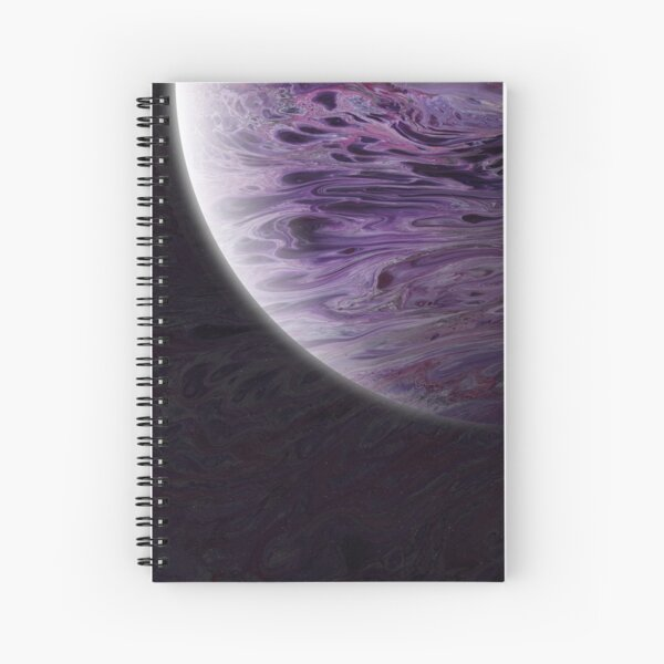 Planet Iota: Outer Space Art Spiral Notebook