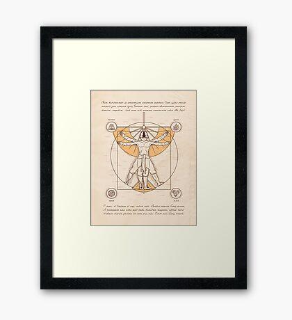 Vitruvian Aang Framed Print