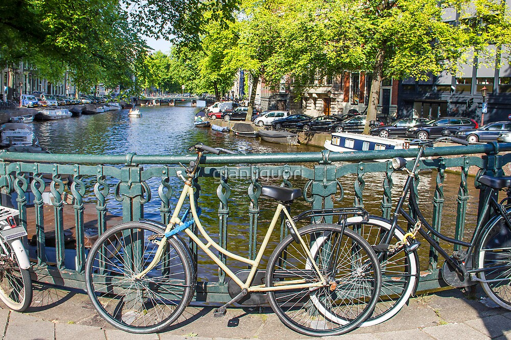 Amsterdam canal and bikes by gianliguori
