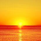 Beautiful sunset over the sea by gianliguori