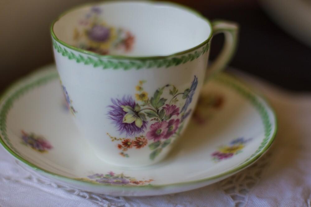 a bit of vintage china by Justine Gordon