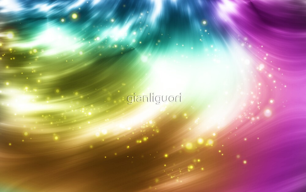 Abstract background with colorful lights by gianliguori