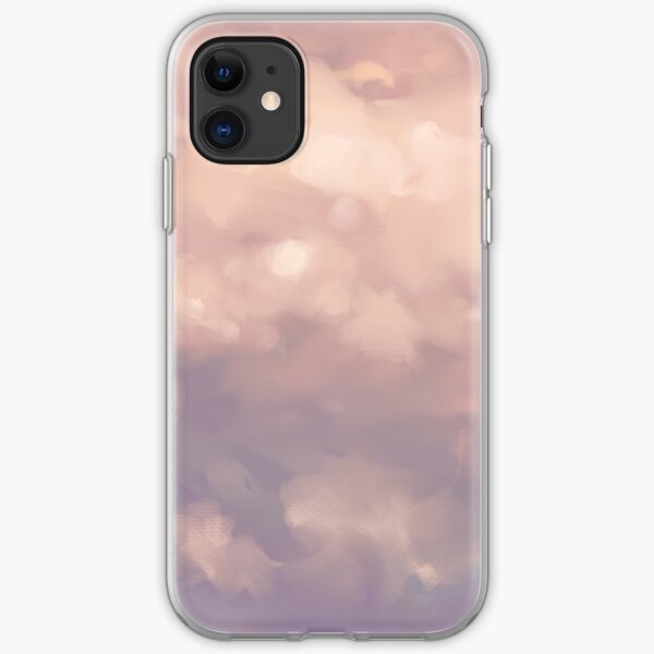 Fluffy Pink Sunset Clouds iPhone Soft Case