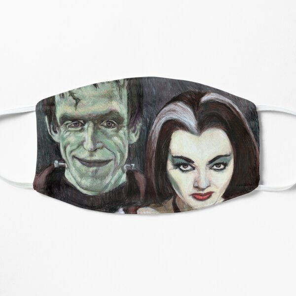 Lily and Herman Munster Flat Mask