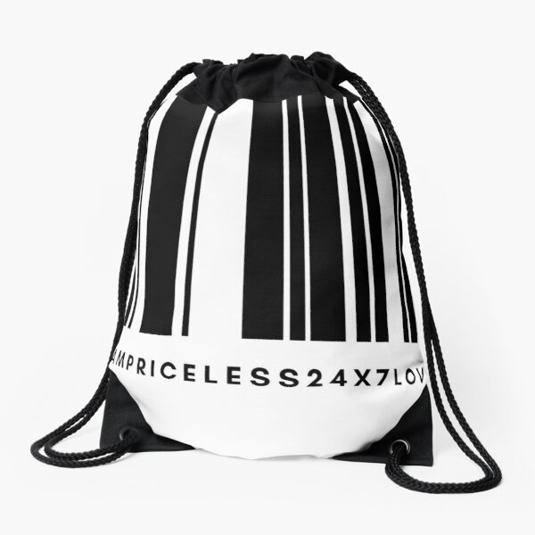 I am Priceless 24x7 Love Drawstring Bag