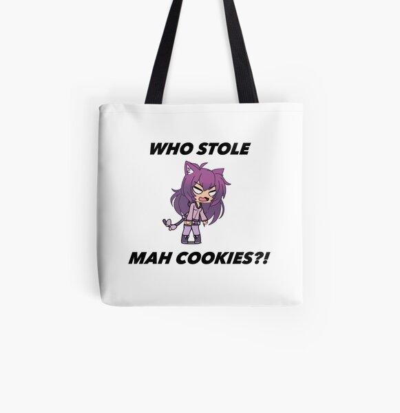Gacha ¿Quién robó mis galletas? Bolsa estampada de tela