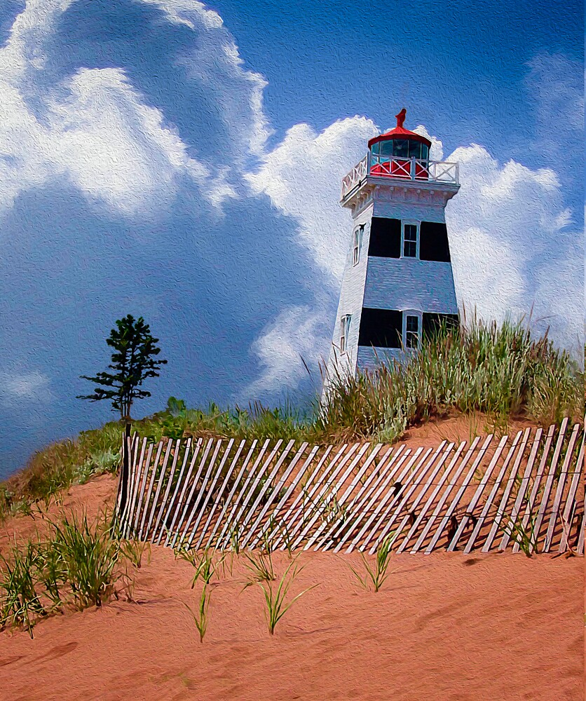 West Point Lighthouse - PEI by Wib Dawson