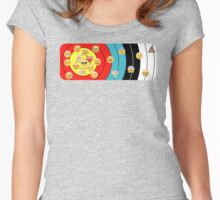 Target & emoji Women's Fitted Scoop T-Shirt