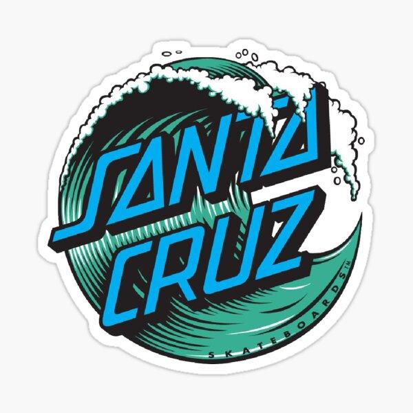Logotipo de Santa Cruz Blue Wave Pegatina