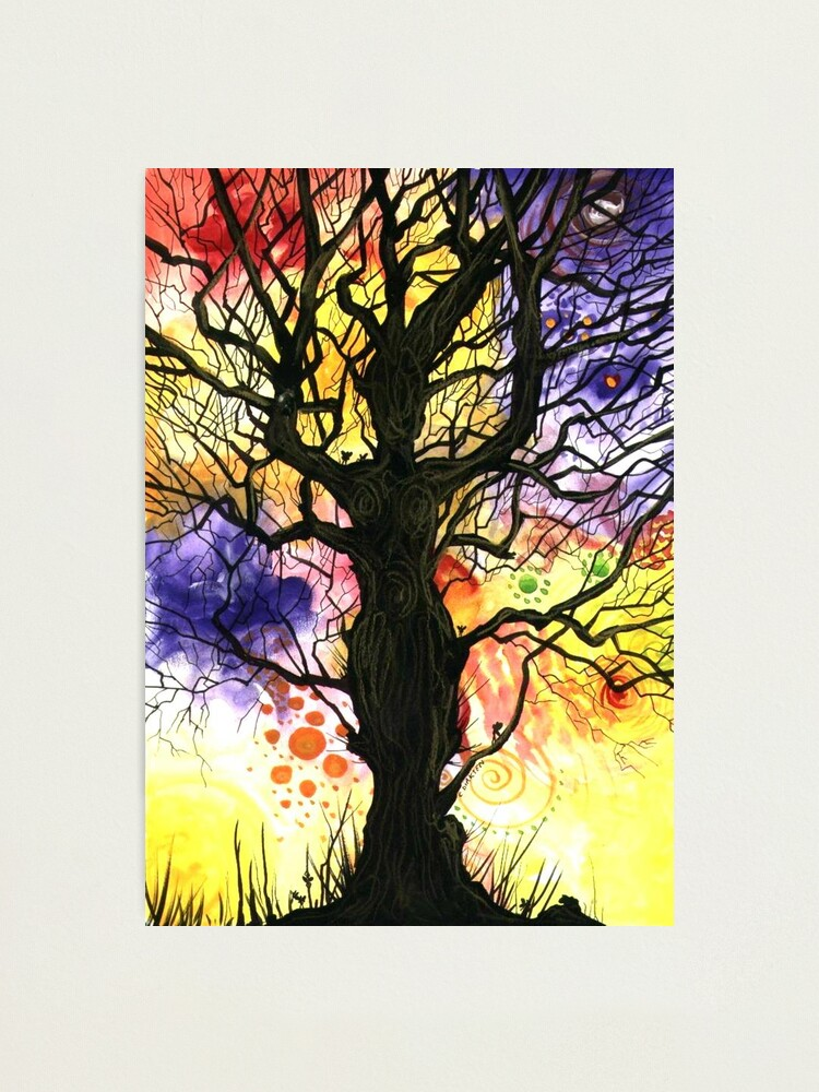Alternate view of Tree of Life Series - 'Cosmic' Photographic Print