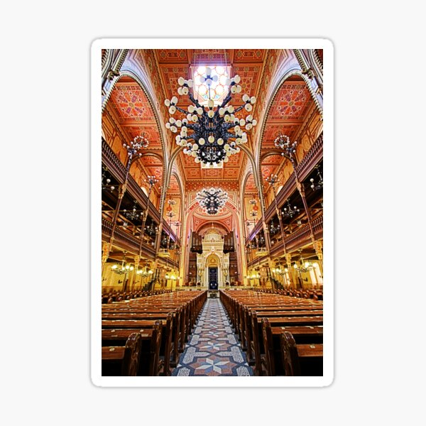Budapest Synagogue Sticker