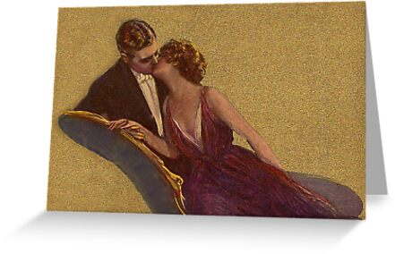 Kissing on the Chaise-Longue Valentine by Sarah Vernon