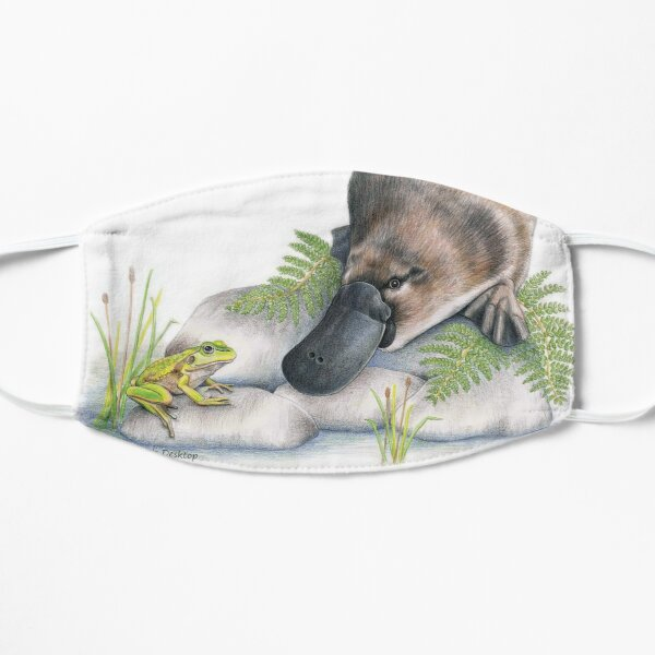 Platypus (with Growling Grass Frog) Flat Mask