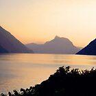 SUNSET LUGANO - SWITZERLAND by Marilyn Grimble