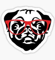 Nerd Pug Sticker