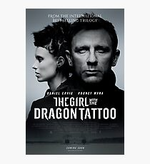The Girl with the dragon tattoo Film poster Photographic Print