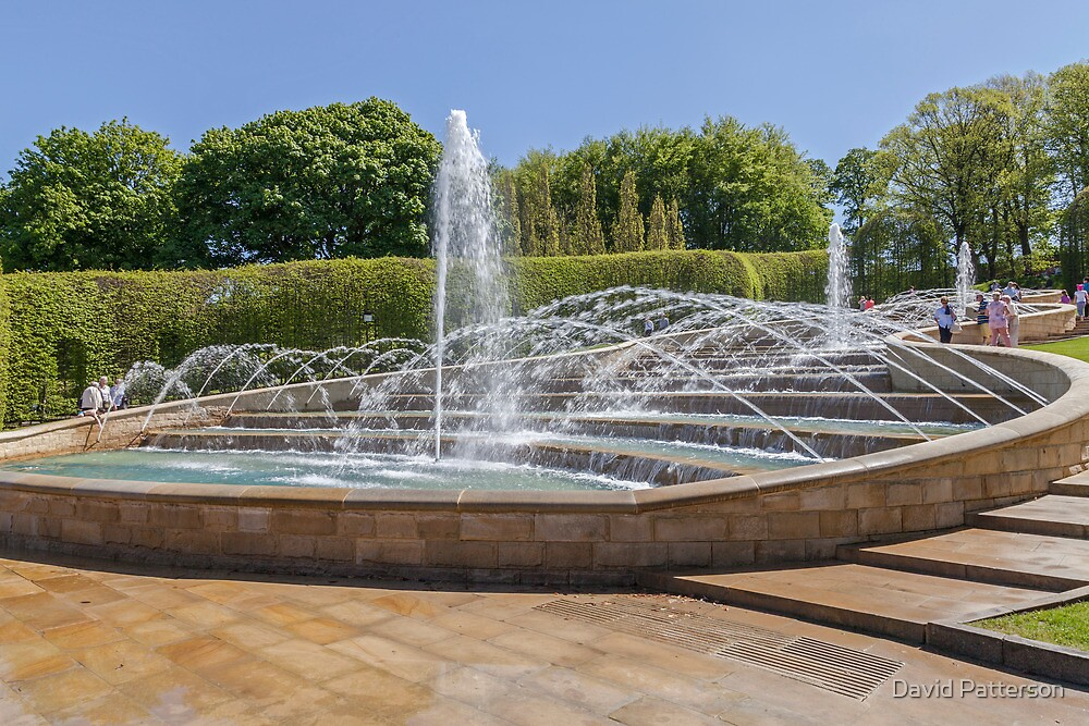 Water cascade at Alnwick Gardens by David Patterson