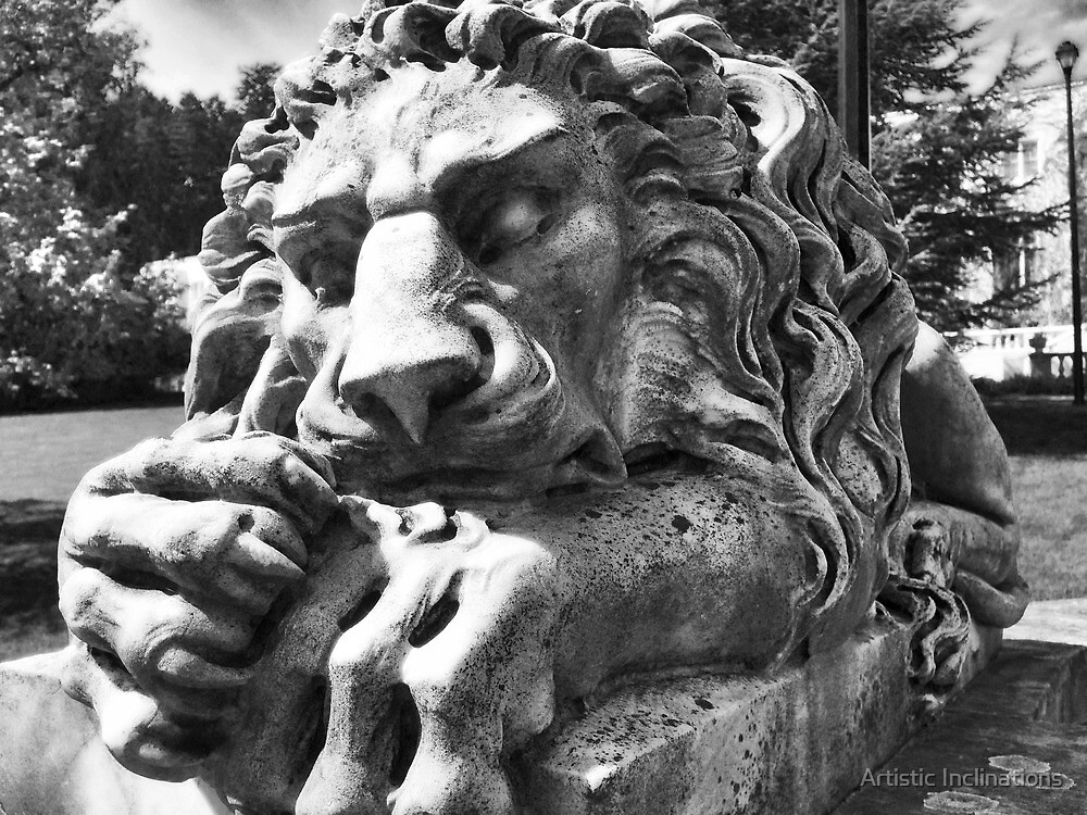 Stone Guardian B&W by Artistic Inclinations