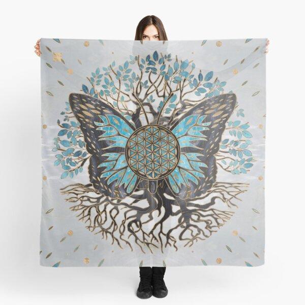 Blume des Lebens - Baum des Lebens - Schmetterling Tuch
