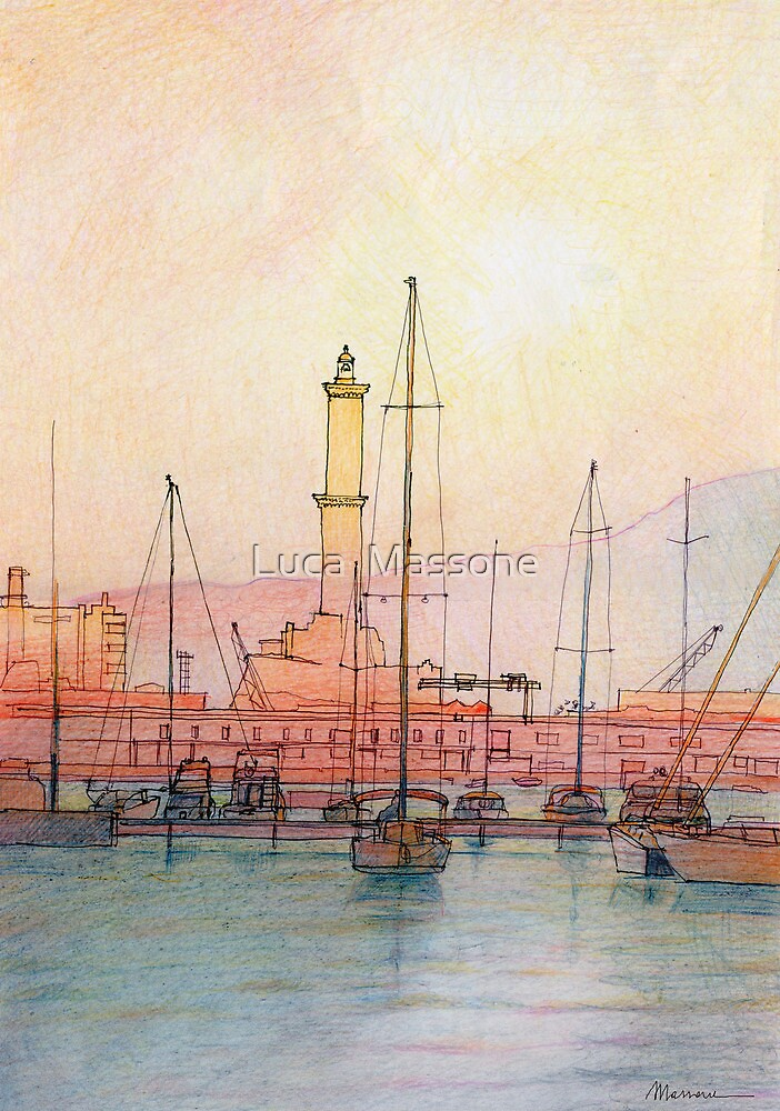 La Lanterna di Genova! by Luca Massone  disegni