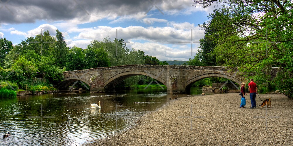 Bridge across the River Eamont by Tom Gomez