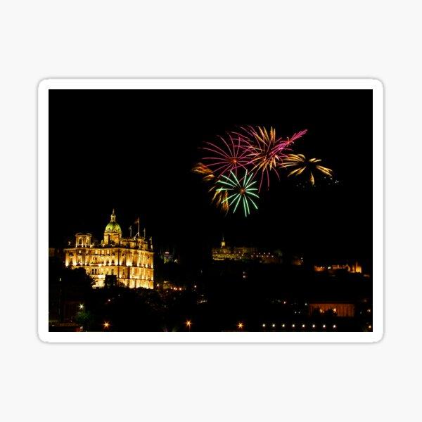 Edinburgh Castle Fireworks Sticker