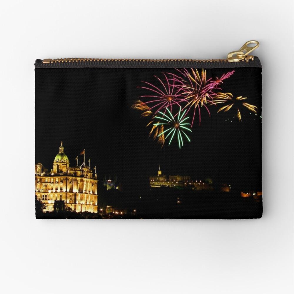 Edinburgh Castle Fireworks Zipper Pouch