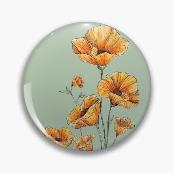 California Poppies Pin
