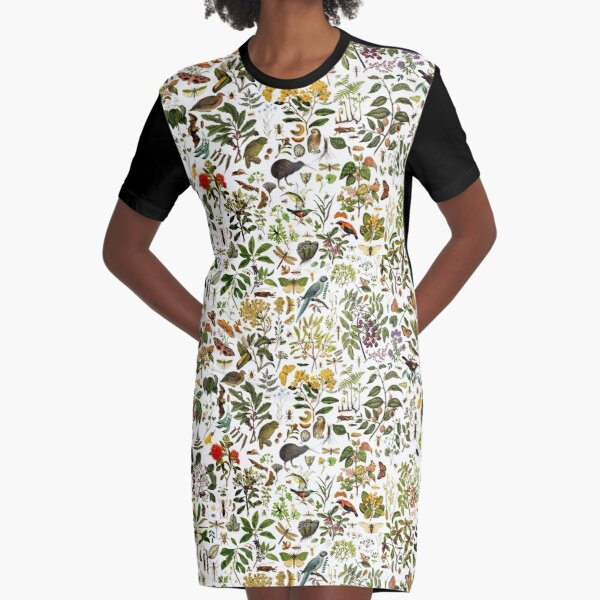 New Zealand Biology Graphic T-Shirt Dress