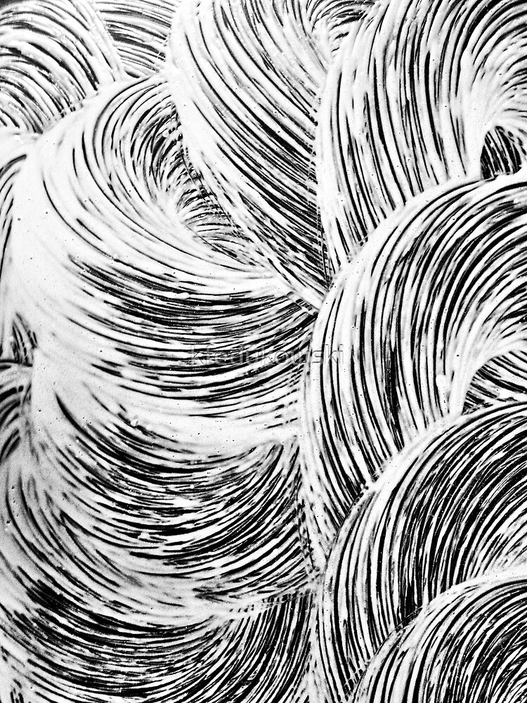 Japanese Wave Abstract by kfedukowski