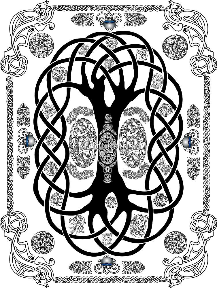 Yggdrasil Tattoo by kfedukowski
