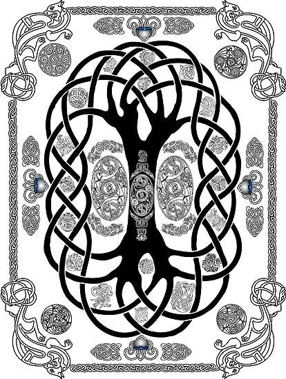 Yggdrasil Tatouage Posters By Kfedukowski Redbubble