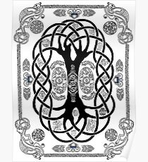 Yggdrasil Design Illustration Posters Redbubble