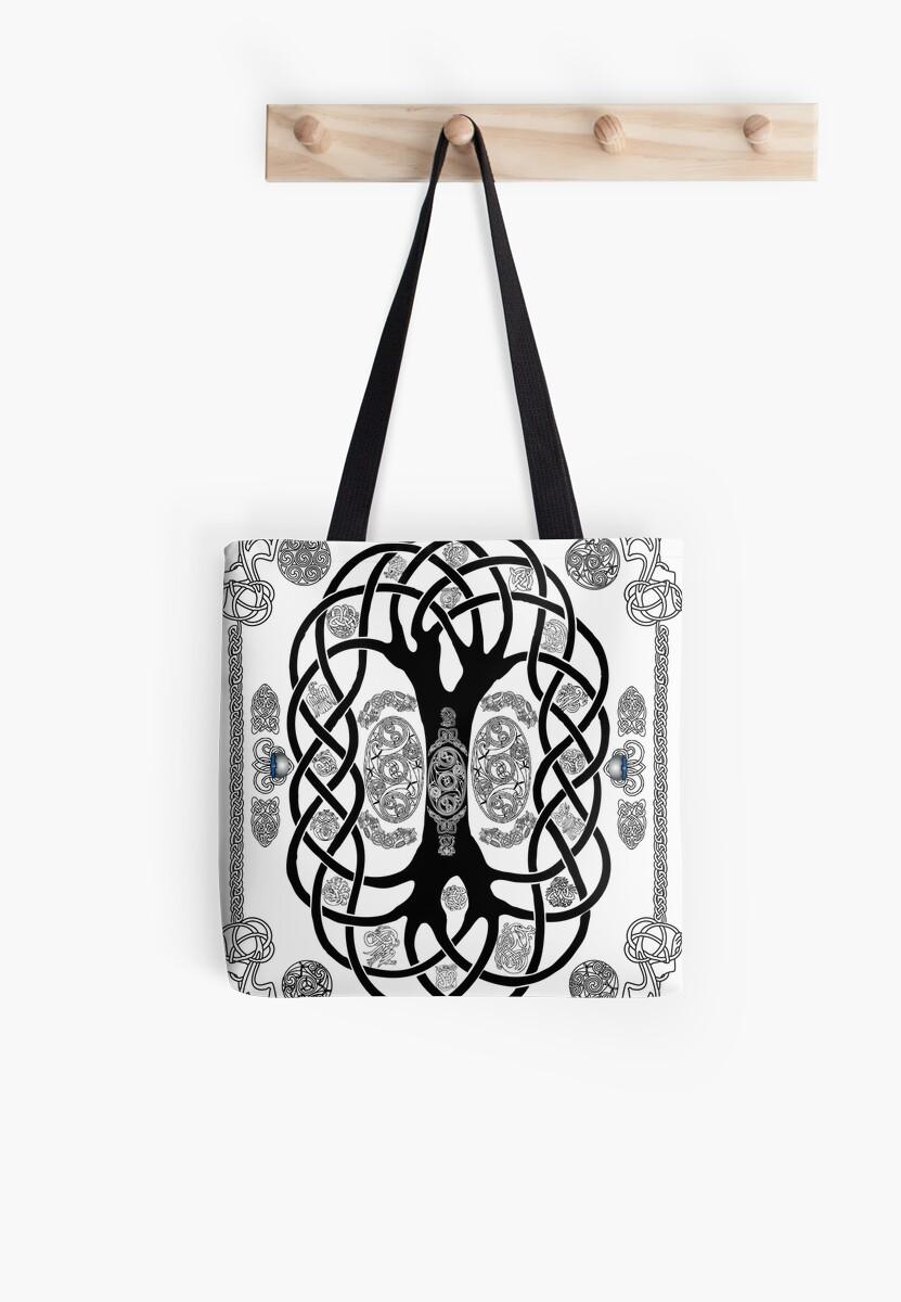 Yggdrasil Tatouage Tote Bags Par Kfedukowski Redbubble