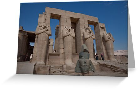 Ramesseum Statuary in Thebes Egypt by renprovo