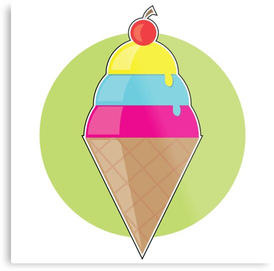 Ice Cream Cone by Maria Bell