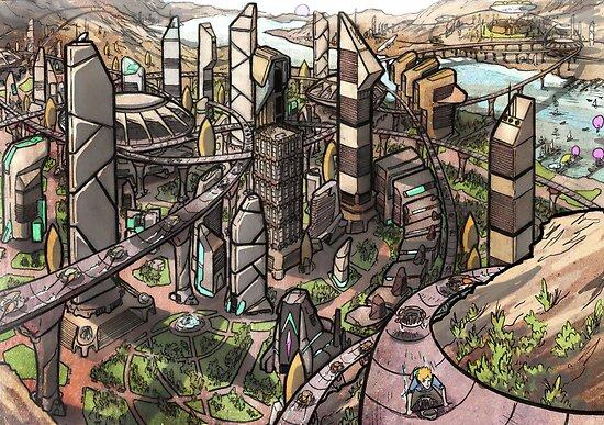 VERDACOMB City Poster by VERDACOMB