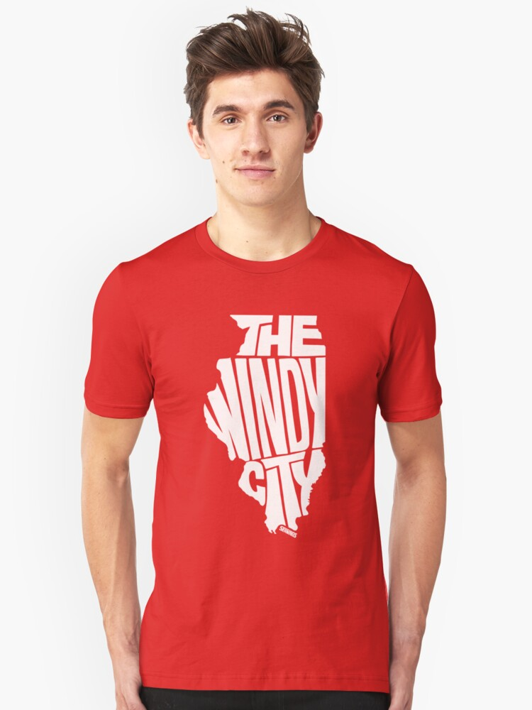Chicago: The Windy City White Unisex T-Shirt Front