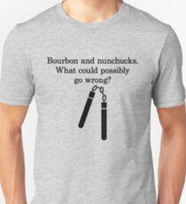 Bourbon and Nunchucks T-Shirt