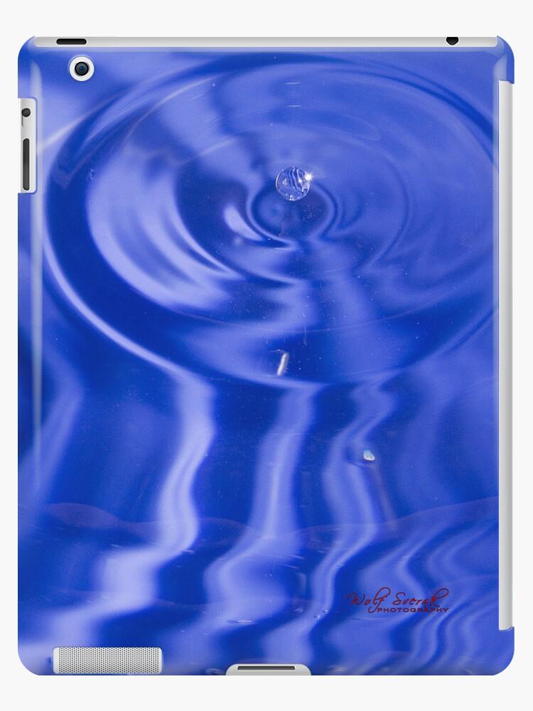 Blue Water Drop iPad Case by Wolf Sverak