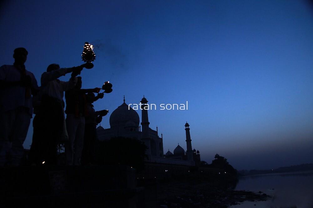 taj in evening  by ratan sonal